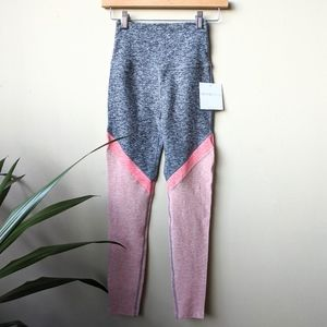 08d1c58a0badb Beyond Yoga Pants - Beyond Yoga Tri-Panel Spacedye Gray Pink Leggings